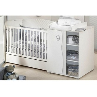 Lit b b avec table langer int gr e pas cher ouistitipop - Lit bebe table a langer integree ...