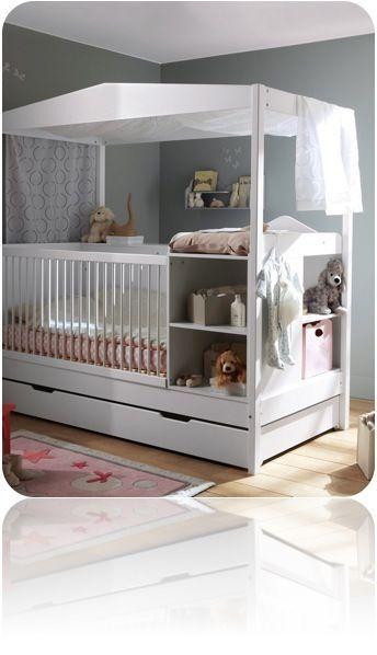 Lit bebe combine table langer - ouistitipop