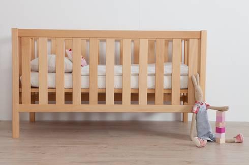 lit bebe evolutif bois brut