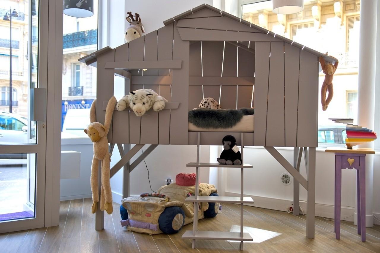 cabane lit enfant ouistitipop. Black Bedroom Furniture Sets. Home Design Ideas