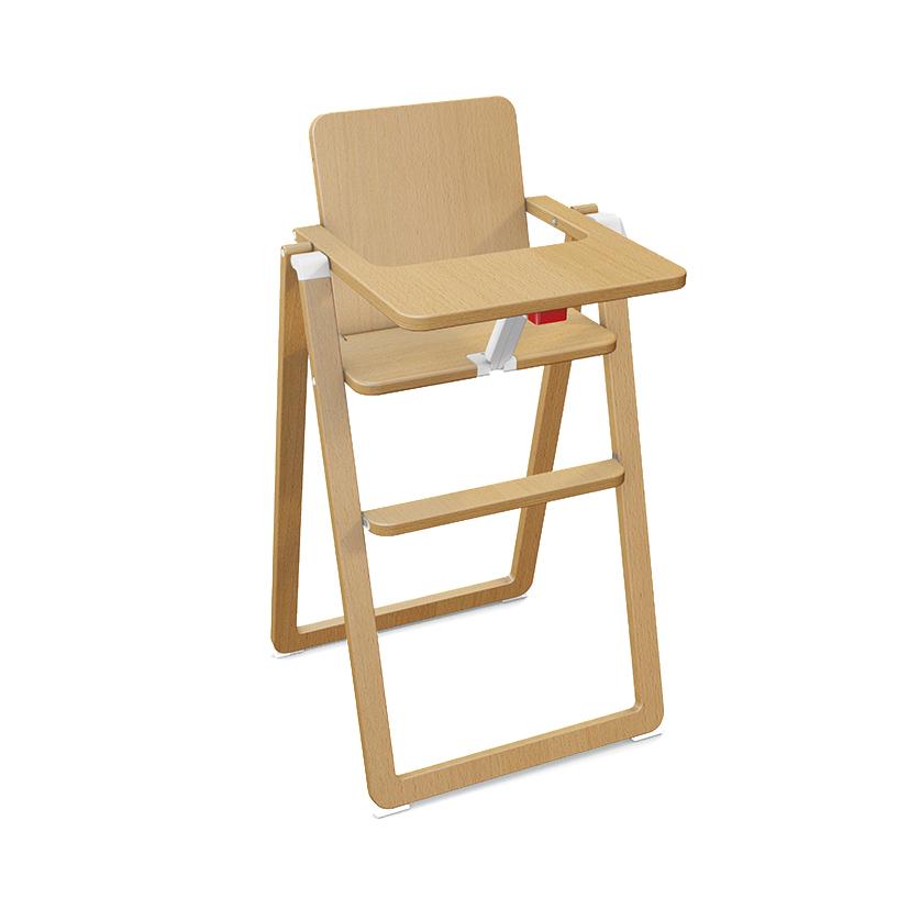 Chaise haute pliante bois ouistitipop for Chaise haute bois