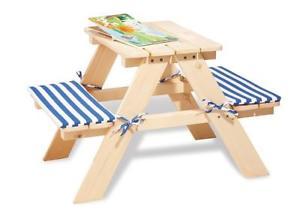 Table et banc pour enfant