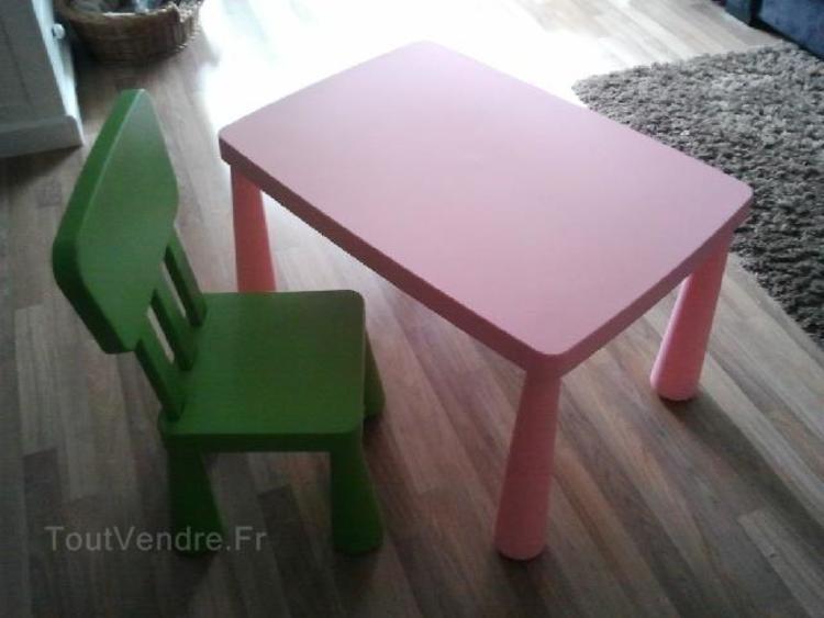 Table et chaise pour enfant ikea
