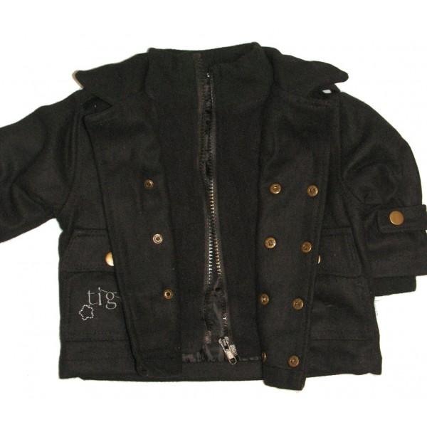 manteau noir garcon ouistitipop. Black Bedroom Furniture Sets. Home Design Ideas