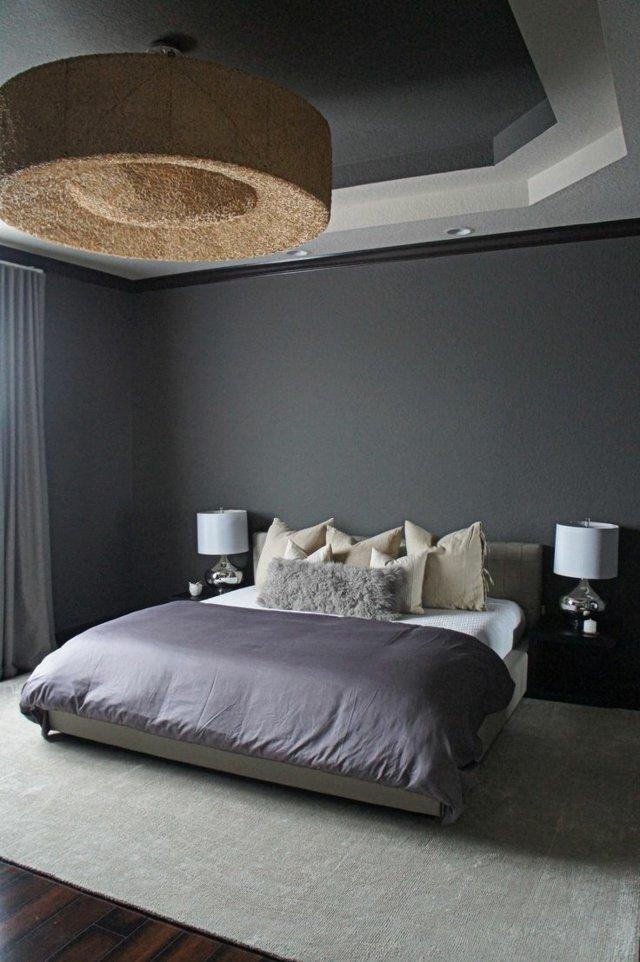 Lustre gris pour chambre