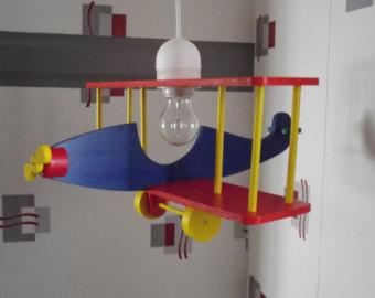 plafonnier avion bois ouistitipop. Black Bedroom Furniture Sets. Home Design Ideas