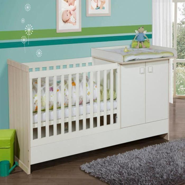 Lit bebe combine table langer