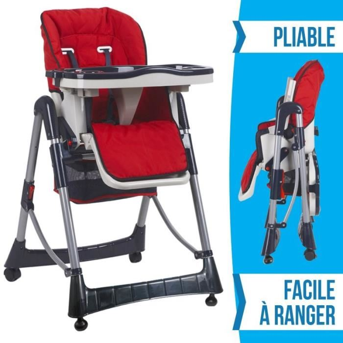chaise haute reglable bebe ouistitipop. Black Bedroom Furniture Sets. Home Design Ideas