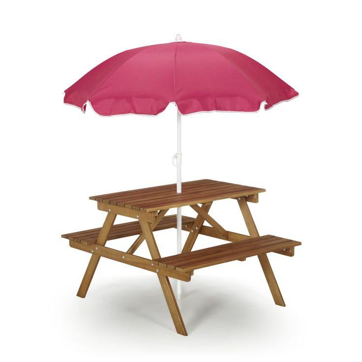 Table enfant avec parasol - ouistitipop