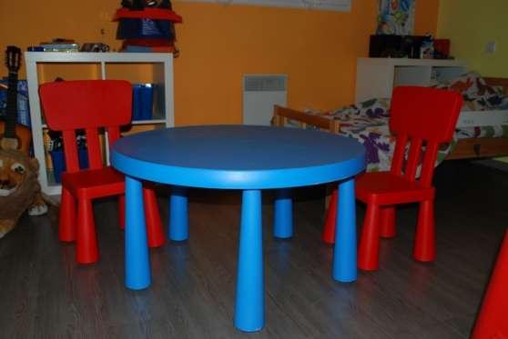 Table et chaise ikea enfant