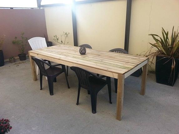 Table pour terrasse