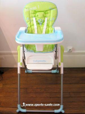 Chaise haute pliante pour bébé