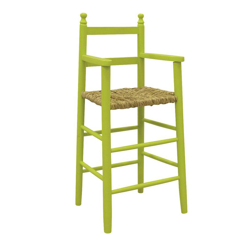Chaise haute en bois enfant