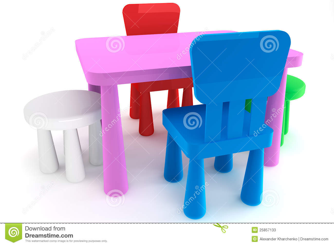 Table plastique pour enfant