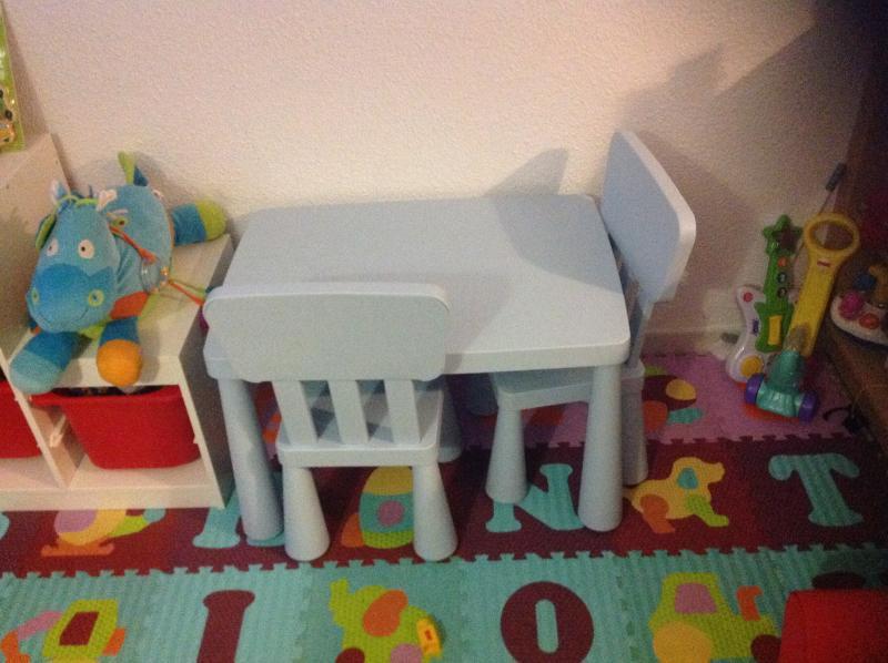 Table chaise ikea enfant