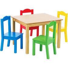 Table enfant chaise