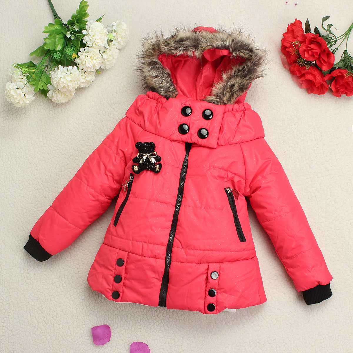 Manteau hiver fille 8 ans