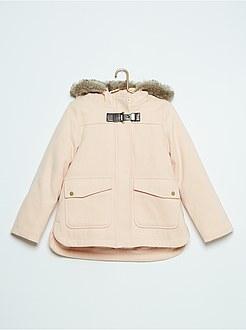 Manteau fille beige