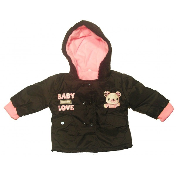 Manteau noir bebe fille