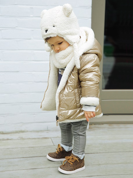 Manteau fourrure bebe fille