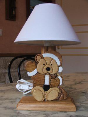 Lampe chevet bois enfant