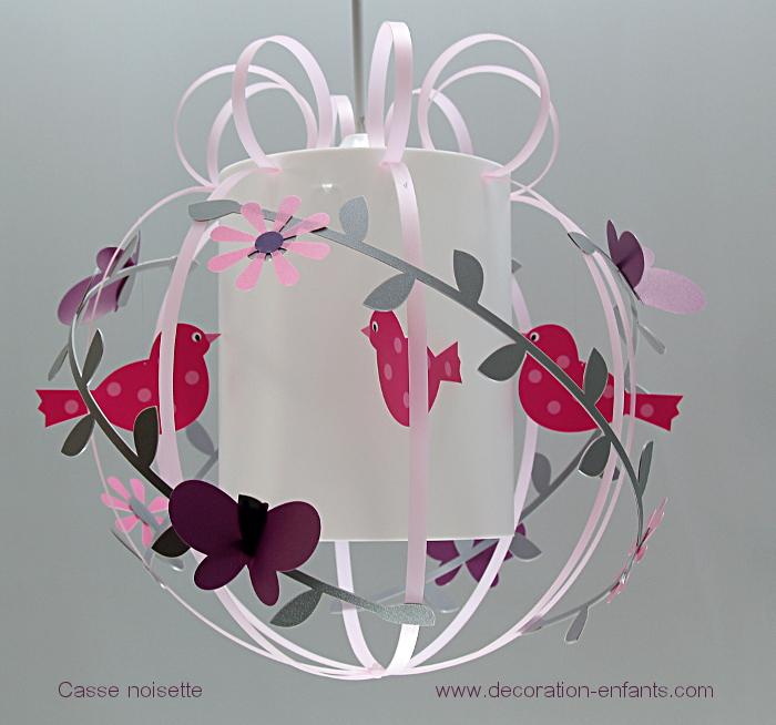 Luminaire fille rose